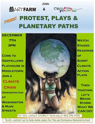 ARTFARM and Oddfellows Poster of Protest, Plays and Planetary Paths