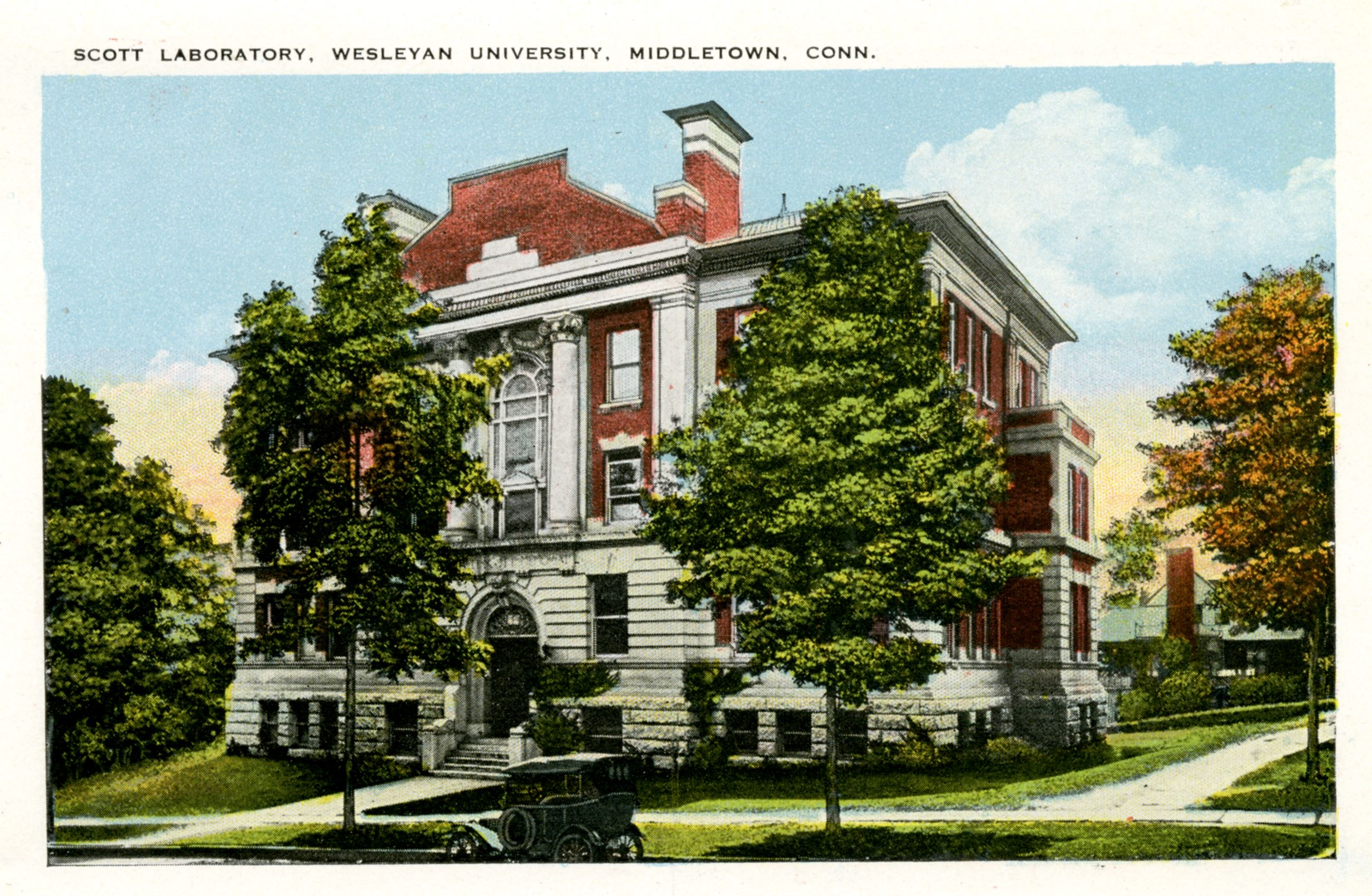 Historical Image of Scott Laboratory, Wesleyan University