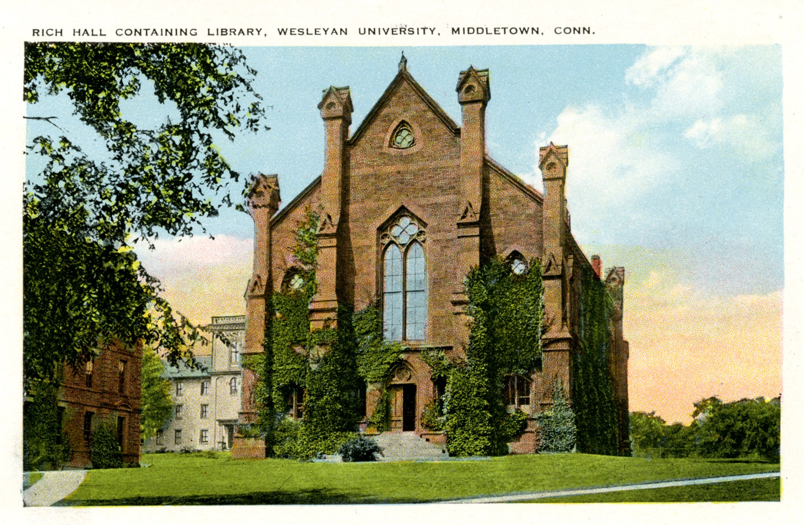 Historical Image of Rich Hall, Wesleyan University