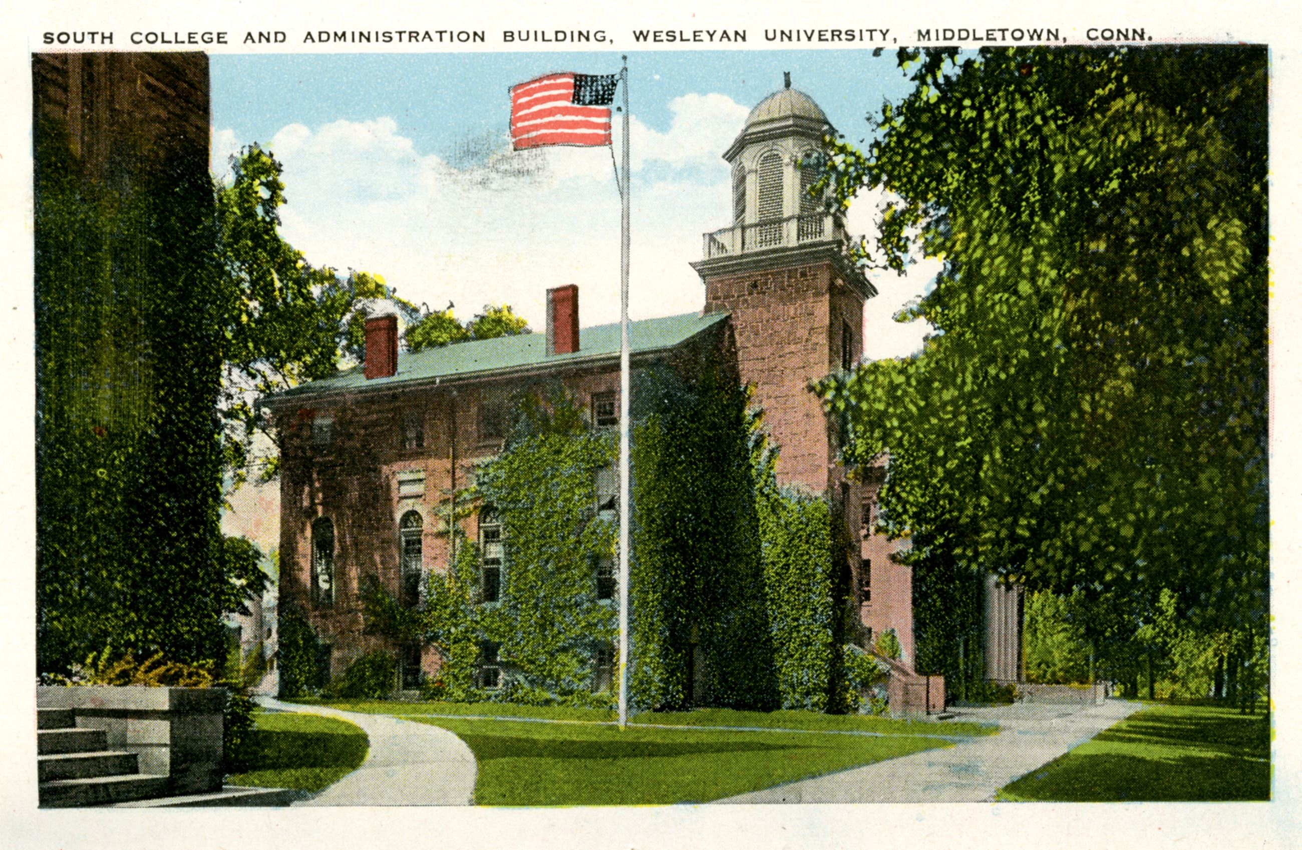 Historical Image of South Hall, Wesleyan University