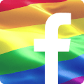 Facebook Icon with Pride Flag