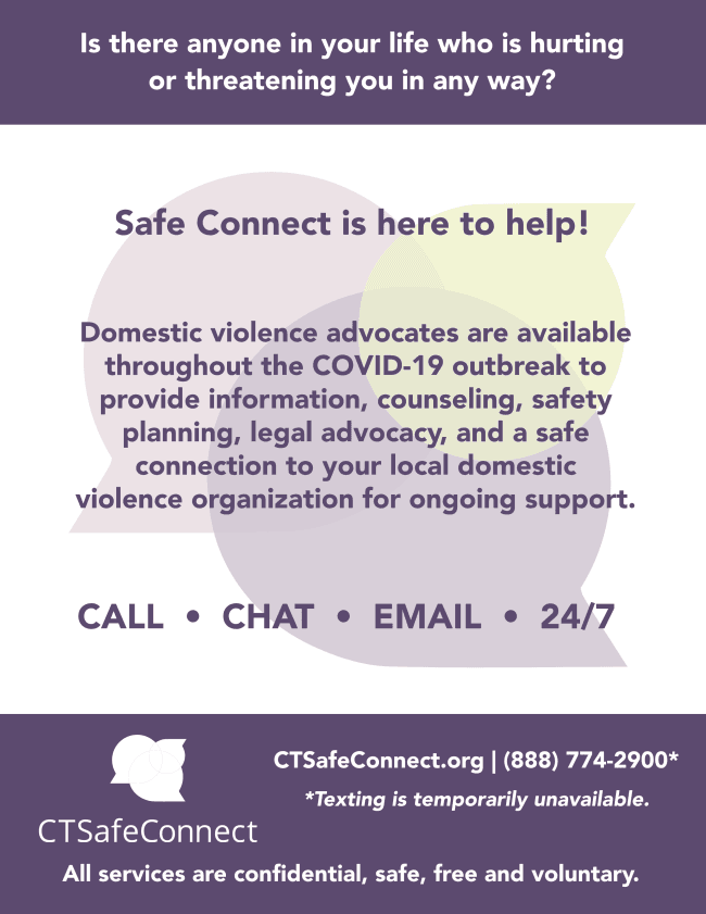 Safe Connect COVID-19 8.5x11 poster 3