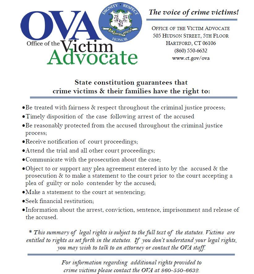 Crime Victim Rights (PDF)